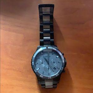 Men's Fossil black watch